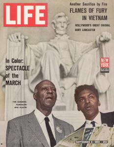 African American Activists Randolph and Rustin, Organizers of the Freedom March, September 6, 1963 by Leonard Mccombe