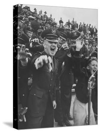 Air Force Academy Cadets Cheering During Game