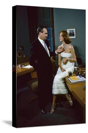 President of Revlon Charles Revson with Model Susie Parker, New York, NY 1956
