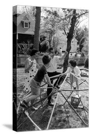 Professor Laurence R. Young with Wife and Children Eliot and Leslie, Massachusetts, 1967