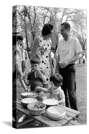 Professor Laurence R. Young with Wife and Children Eliot and Leslie, Massachusetts, 1968