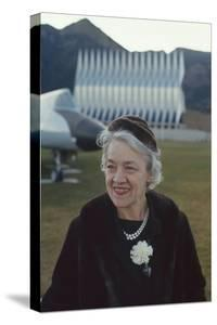 Republican Senator Margaret Madeline Chase Smith on Grounds of Air Force Academy, Denver, Co, 1963 by Leonard Mccombe