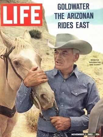 Senator Barry Goldwater with Horse, November 1, 1963