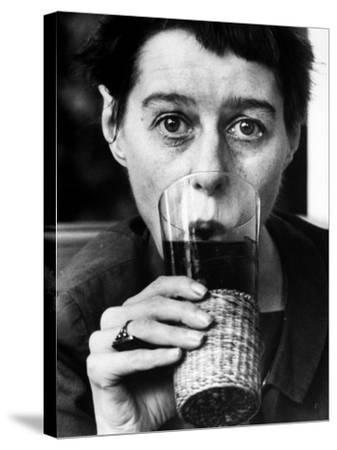 Writer Carson Mccullers Having a Drink