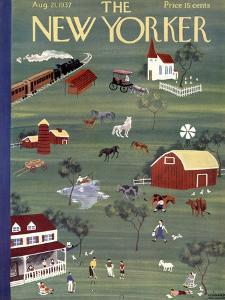 The New Yorker Cover - August 21, 1937 by Leonard Weisgard