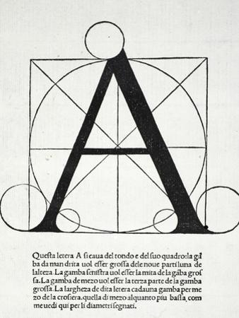 A, Illustration from 'Divina Proportione' by Luca Pacioli (C.1445-1517) by Leonardo da Vinci