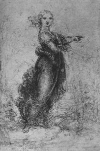 'A Young Woman Pointing', c1480 (1945) by Leonardo da Vinci
