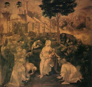 Adoration of the Magi, 1481 by Leonardo da Vinci