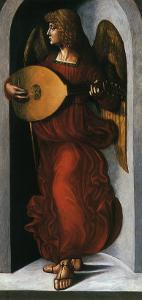 Angel with a Lute by Leonardo da Vinci