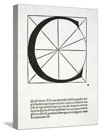 C, Illustration from 'Divina Proportione' by Luca Pacioli (C.1445-1517)