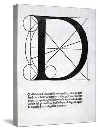 D, Illustration from 'Divina Proportione' by Luca Pacioli (C.1445-1517), Originally Pub. Venice,…