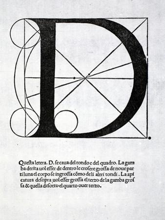 D, Illustration from 'Divina Proportione' by Luca Pacioli (C.1445-1517), Originally Pub. Venice,… by Leonardo da Vinci