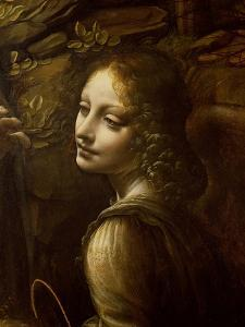 Detail of the Angel, from the Virgin of the Rocks by Leonardo da Vinci