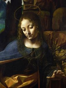 Detail of the Head of the Virgin, from the Virgin of the Rocks by Leonardo da Vinci