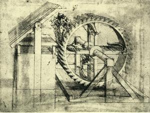 Enormous Wheel Weapon by Leonardo da Vinci
