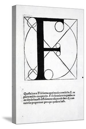 F, Illustration from 'Divina Proportione' by Luca Pacioli (C.1445-1517), Originally Pub. Venice,…