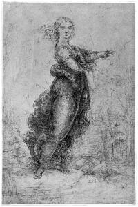 Floating Female Figure, Late 15th or Early 16th Century by Leonardo da Vinci