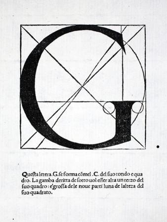 G, Illustration from 'Divina Proportione' by Luca Pacioli (C.1445-1517), Originally Pub. Venice,… by Leonardo da Vinci