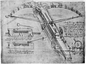 Giant Crossbow, 1480-1485 by Leonardo da Vinci