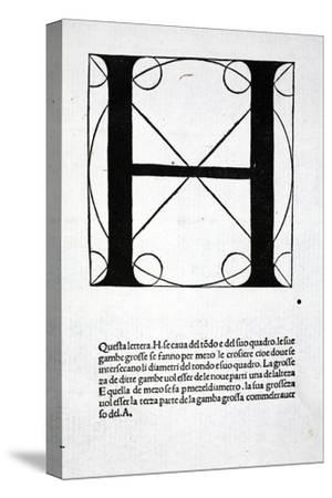 H, Illustration from 'Divina Proportione' by Luca Pacioli (C.1445-1517), Originally Pub. Venice,…
