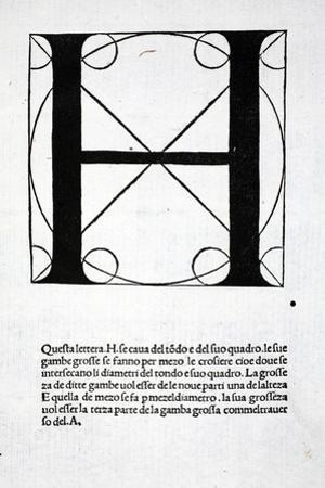 H, Illustration from 'Divina Proportione' by Luca Pacioli (C.1445-1517), Originally Pub. Venice,… by Leonardo da Vinci