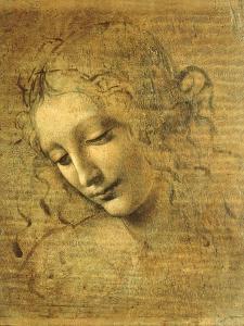 Head of a Young Woman La Scapigliata (the Lady of the Disheveled Hair) by Leonardo da Vinci