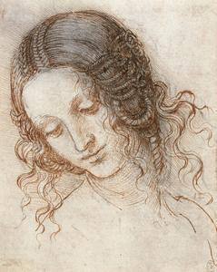 Head of Leda by Leonardo Da Vinci