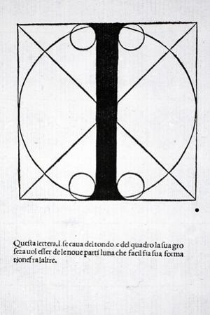 I, Illustration from 'Divina Proportione' by Luca Pacioli (C.1445-1517), Originally Pub. Venice,… by Leonardo da Vinci