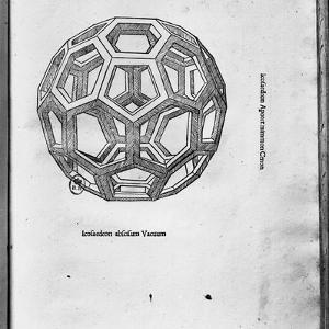 "Icosahedron, from ""De Divina Proportione"" by Luca Pacioli, Published 1509, Venice by Leonardo da Vinci"