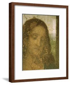 Jesus' Head, Detail from Leonardo's Last Supper, 1498 by Leonardo da Vinci