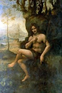 John the Baptist, with the Attributes of Bacchus, 1513-1516 by Leonardo da Vinci