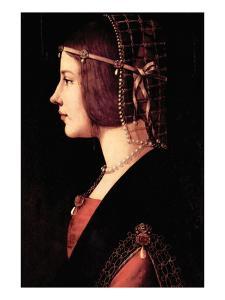 Lady Beatrice D'Este by Leonardo da Vinci