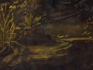 Landscape, from the Virgin of the Rocks, 1483-86, Bottom Left Hand Detail by Leonardo da Vinci