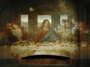 Last Supper, Detail of Christ with Apostles, 1498 by Leonardo da Vinci