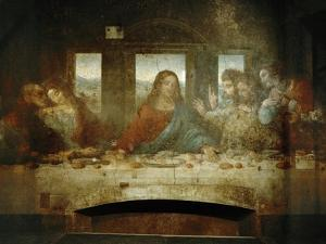 Last Supper, Detail of Christ with Apostles, 1498 by Leonardo da Vinci