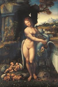 Leda, by Copy From Leonardo Da Vinci, 1505 - 1507, 16th Century, by Leonardo da Vinci