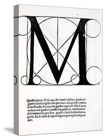 M, Illustration from 'Divina Proportione' by Luca Pacioli (C.1445-1517)