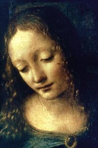 Madonna of the Rocks (Detail), 1482-1486 by Leonardo da Vinci