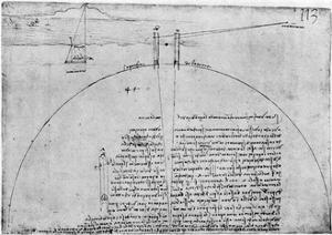 Method of Measuring the Surface of the Earth, Late 15th or Early 16th Century by Leonardo da Vinci