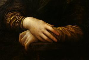 Mona Lisa, Detail of Her Hands, circa 1503-06 by Leonardo da Vinci