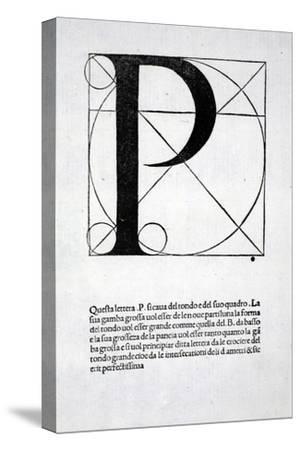 P, Illustration from 'Divina Proportione' by Luca Pacioli (C.1445-1517), Originally Pub. Venice,…