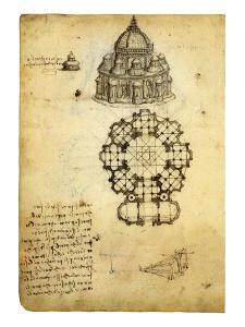Plan for Domed Church by Leonardo da Vinci