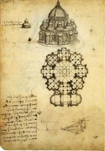 Plan for Domed Church by Leonardo da Vinci