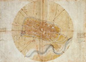 Plan of Imola by Leonardo Da Vinci by Leonardo Da Vinci