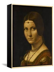 """Portrait d'une dame de la cour de Milan, dit à tort """"la belle ferronnière"""" by Leonardo da Vinci"""