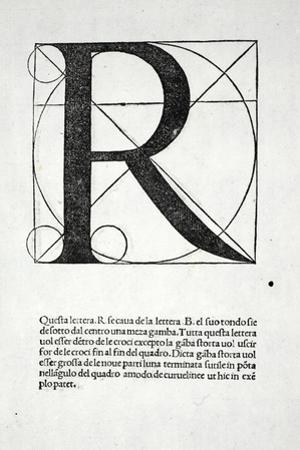 R, Illustration from 'Divina Proportione' by Luca Pacioli (C.1445-1517), Originally Pub. Venice,… by Leonardo da Vinci