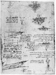 Reflections of the Sun on Water, Late 15th or Early 16th Century by Leonardo da Vinci