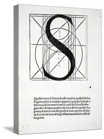S, Illustration from 'Divina Proportione' by Luca Pacioli (C.1445-1517), Originally Pub. Venice,…