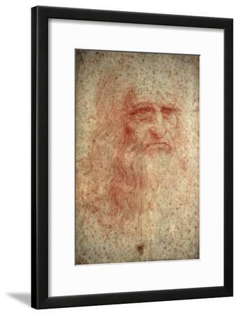 Self Portrait of Leonardo Da Vinci, Italian Painter, Sculptor, Engineer and Architect, C1513