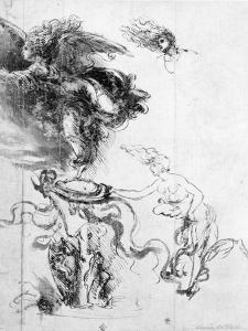 Silhouette of an Angel by Leonardo da Vinci